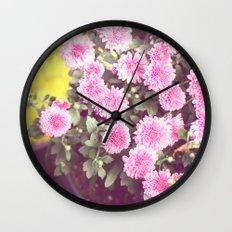 Vintage - Flower Pots Wall Clock