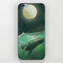 The Whale & The Moon iPhone Skin