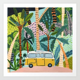 Jungle Camper Art Print