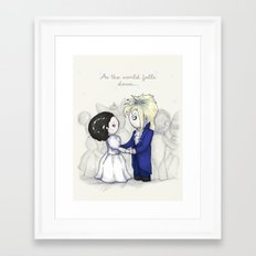 As The World Falls Down Plushie Framed Art Print
