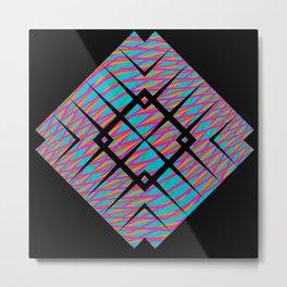 Colors in line - black5 Metal Print