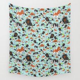 Cute Spaniels Wall Tapestry