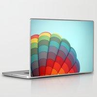 hot air balloon Laptop & iPad Skins featuring Hot Air Balloon by Stephanie K