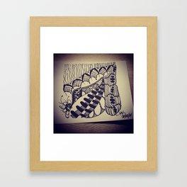 Brat Doll Art - Rain Lace Framed Art Print