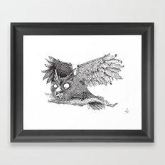 Woodland Owl Framed Art Print