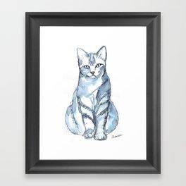Cat with Stripes Framed Art Print