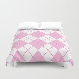 Pink Argyle Duvet Cover