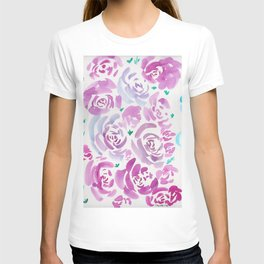 6     190412 Flower Abstract Watercolour Painting T-shirt