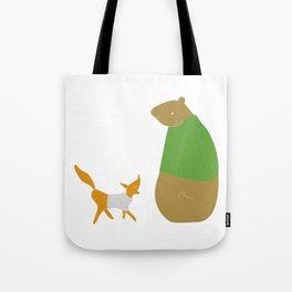 Fox and Bear Tote Bag