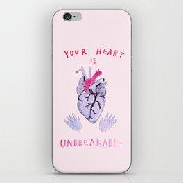 Your heart is unbreakable  iPhone Skin