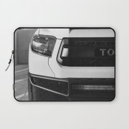 """TOY"" Tundra // Black and White Monster Truck Geared Out Big Wheels Matte Black Grille Laptop Sleeve"
