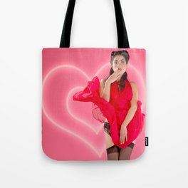 """Ooh La La"" - The Playful Pinup - Valentine's Day Pin-up Girl by Maxwell H. Johnson Tote Bag"