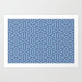 1907 Pattern by patterns bluish Art Print
