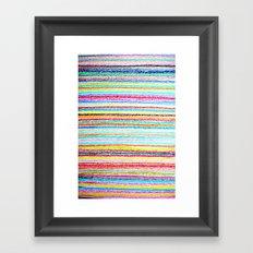 kids crayons Framed Art Print