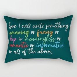 Write Something... Rectangular Pillow