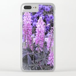Lively Lupines Clear iPhone Case