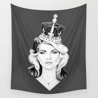 harry Wall Tapestries featuring Debbie Harry by Tracie Andrews