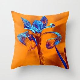 Glowing Iris... Throw Pillow