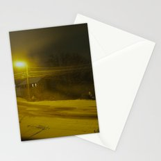 Street Lamp Snowscape Stationery Cards