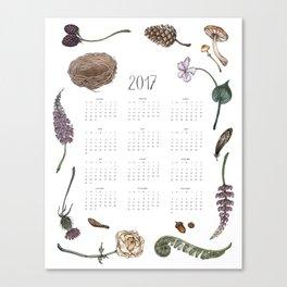 Woodland Wonders Calendar Canvas Print