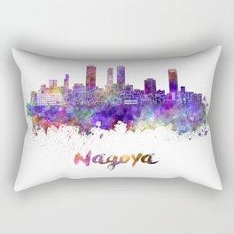 Nagoya skyline in watercolor Rectangular Pillow