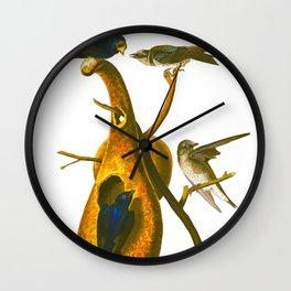 Purple Martin Bird Wall Clock