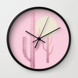 Pink Desert Wall Clock
