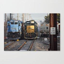 Veteran Locomotives Canvas Print