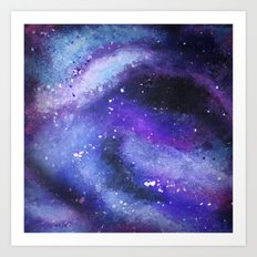 PAINTED GALAXY (Painted, stars, space, milky-way) Art Print