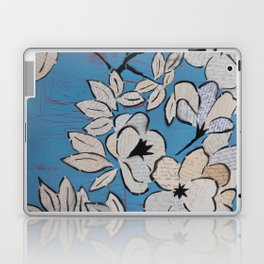 Language Blossoms in Blue Laptop & iPad Skin