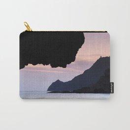 Half Moon beach. Vela tower cliff. Carry-All Pouch