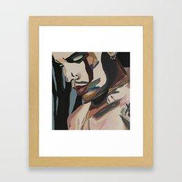Lenny portrait crop Framed Art Print