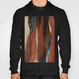 """""""a dark february"""" abstract watercolor painting Hoody"""