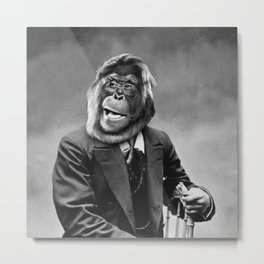 MonkeyMan Metal Print