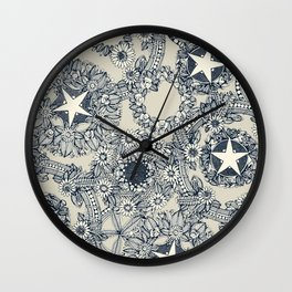 cirque fleur stone Wall Clock