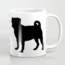 Simple Pug Silhouette Coffee Mug