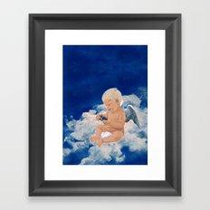 Little Angel And Blue Phone Box ( Tardis Doctor Who ) Framed Art Print