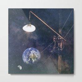 Earth hour Metal Print