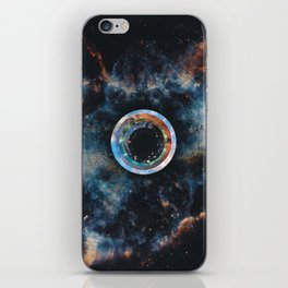 Hawking radiation (tribute to Stephen Hawking) iPhone Skin