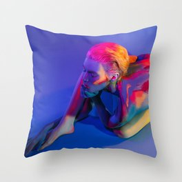 Thoughts Color Your Soul Throw Pillow