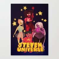 steven universe Canvas Prints featuring Steven Universe by Jimmy Martínez