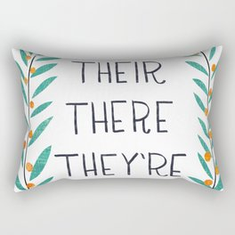 Their There They're - Grammar Lessons Rectangular Pillow