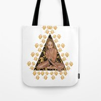 rose gold Tote Bags featuring Rose Gold by Shannice Wollcock