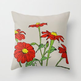 Mexican Sunflowers Throw Pillow