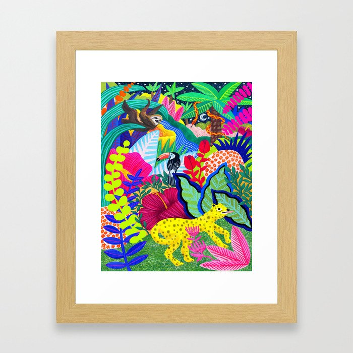 Jungle Party Animals Framed Art Print
