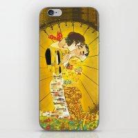 klaine iPhone & iPod Skins featuring KLAINE KISS by Tacodemuerte