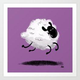 Bouncy, fluffy, sheep Art Print