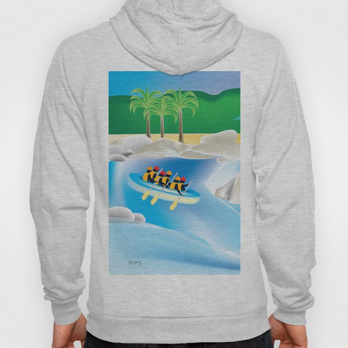 Dominican Republic - Skyline Illustration by Loose Petals Hoody