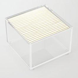 Gold Paris Stripe Pattern Acrylic Box