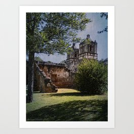 Mission Concepcion - San Antonio, Texas Art Print